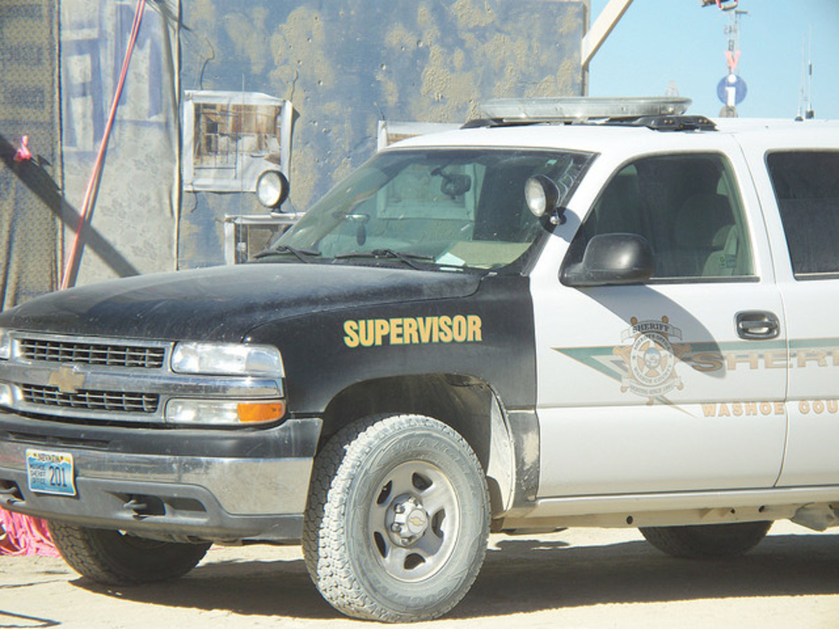 There are law enforcement officers all around the playa and even on it. Have your ID available in case they bother you.