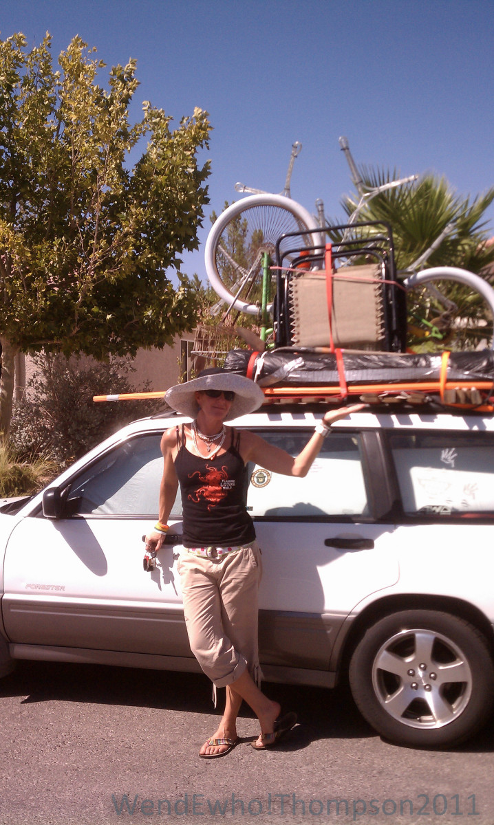 All packed and ready to go to Burning Man.