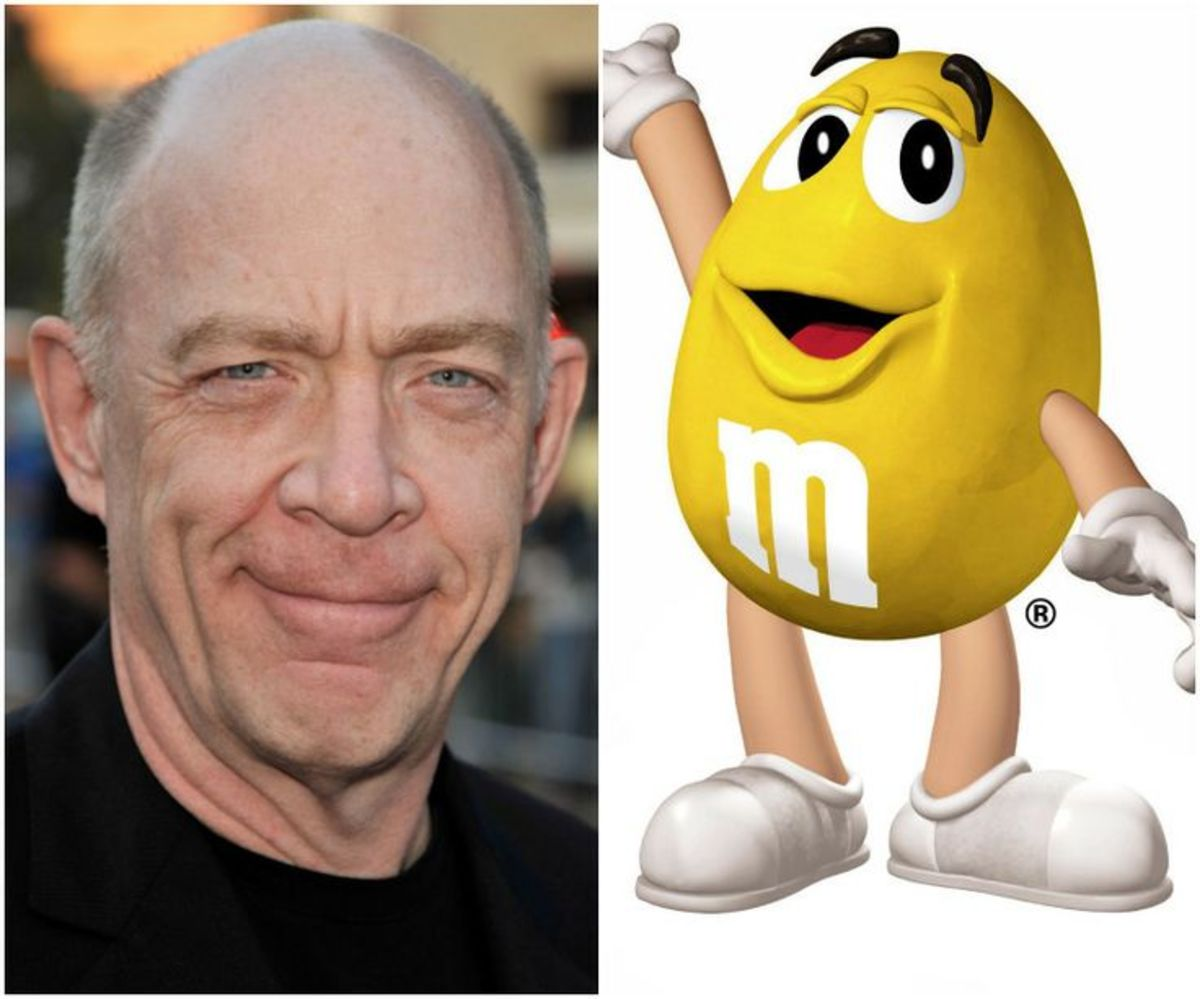 J.K. Simmons aka The Yellow M&M.