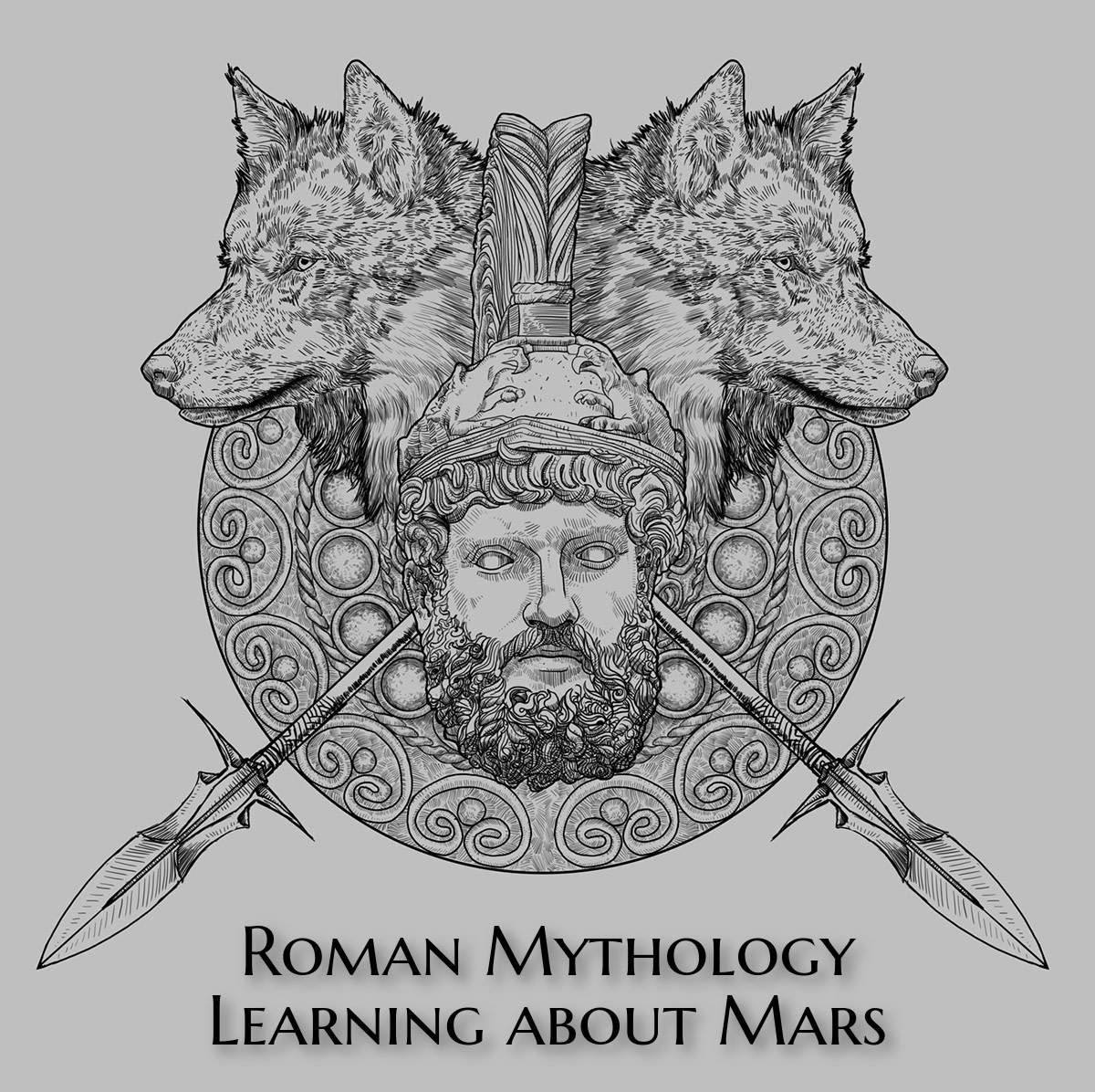 Animals important to Mars: the woodpecker, the bear, and the wolves. Wolves are also recurring animals in several Roman myths, including the founding of Rome.