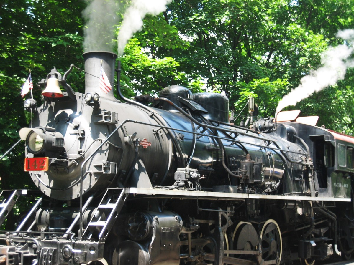 The black steam engine