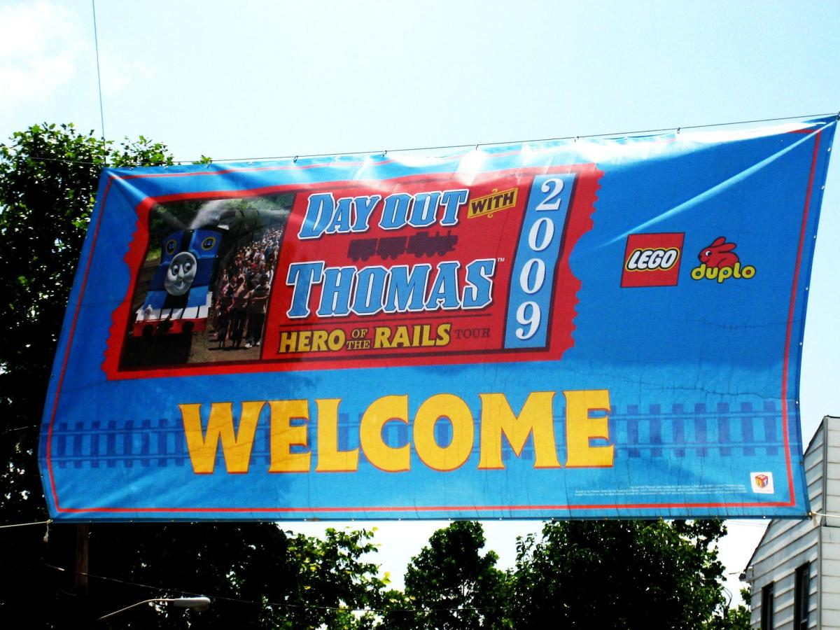 The Welcome Sign at A Day Out With Thomas
