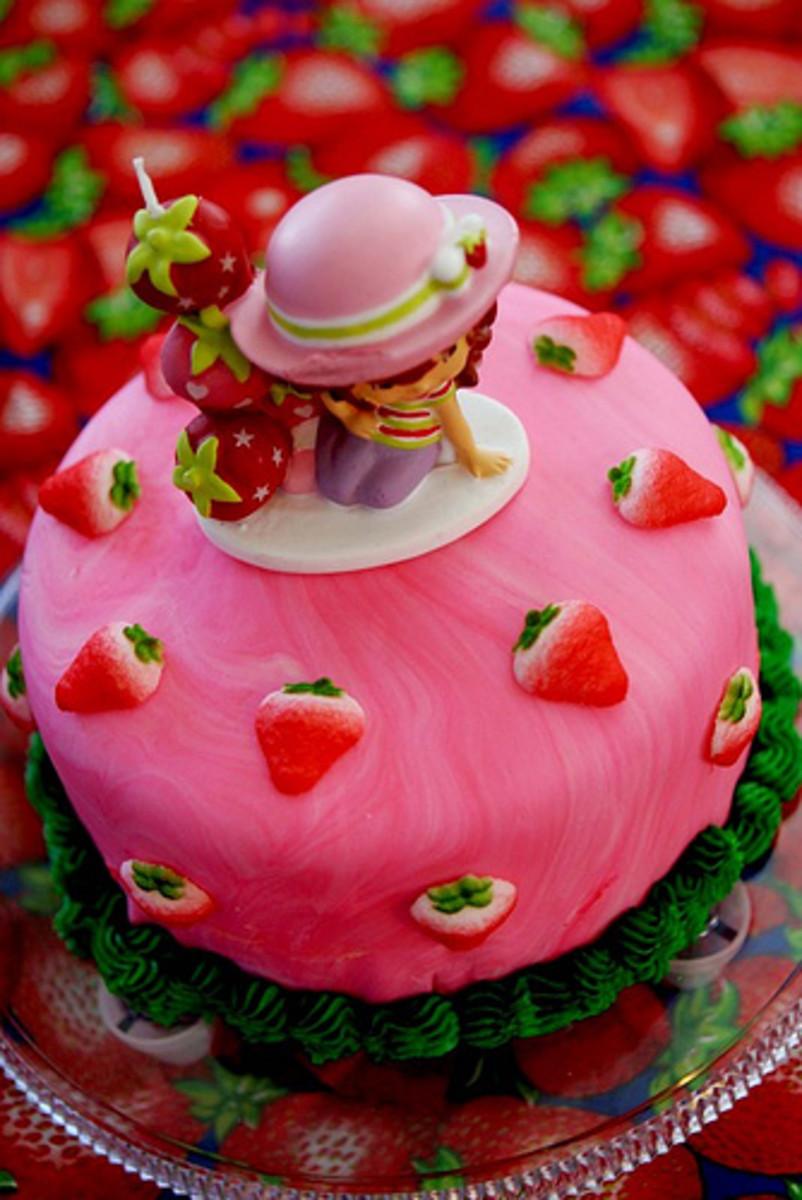 Strawberry Birthday Cake For Girls