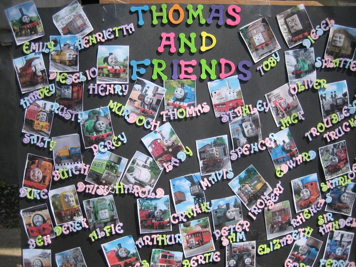 A fun Thomas & Friends poster we saw at the event
