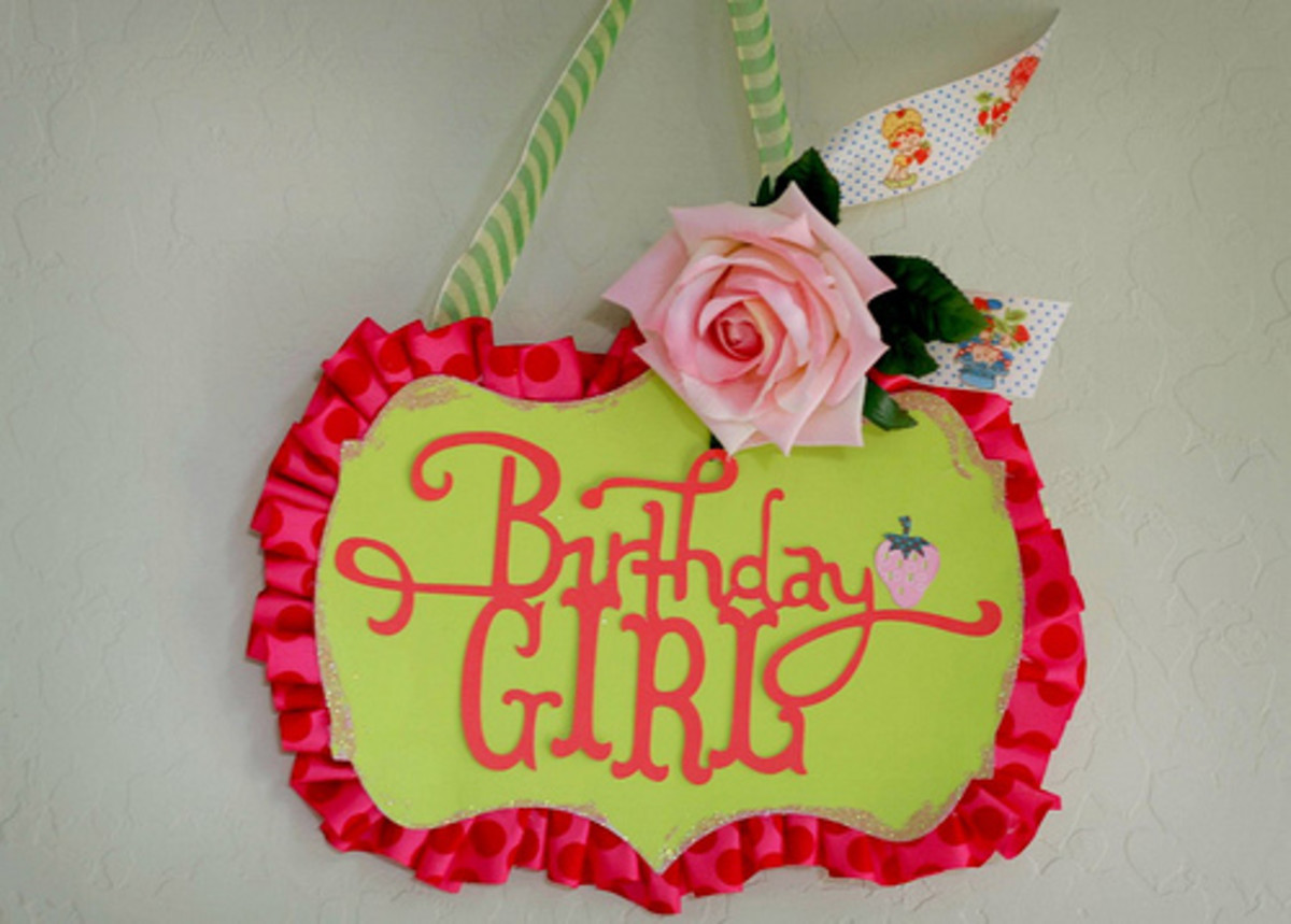 The Birthday Girl Sign