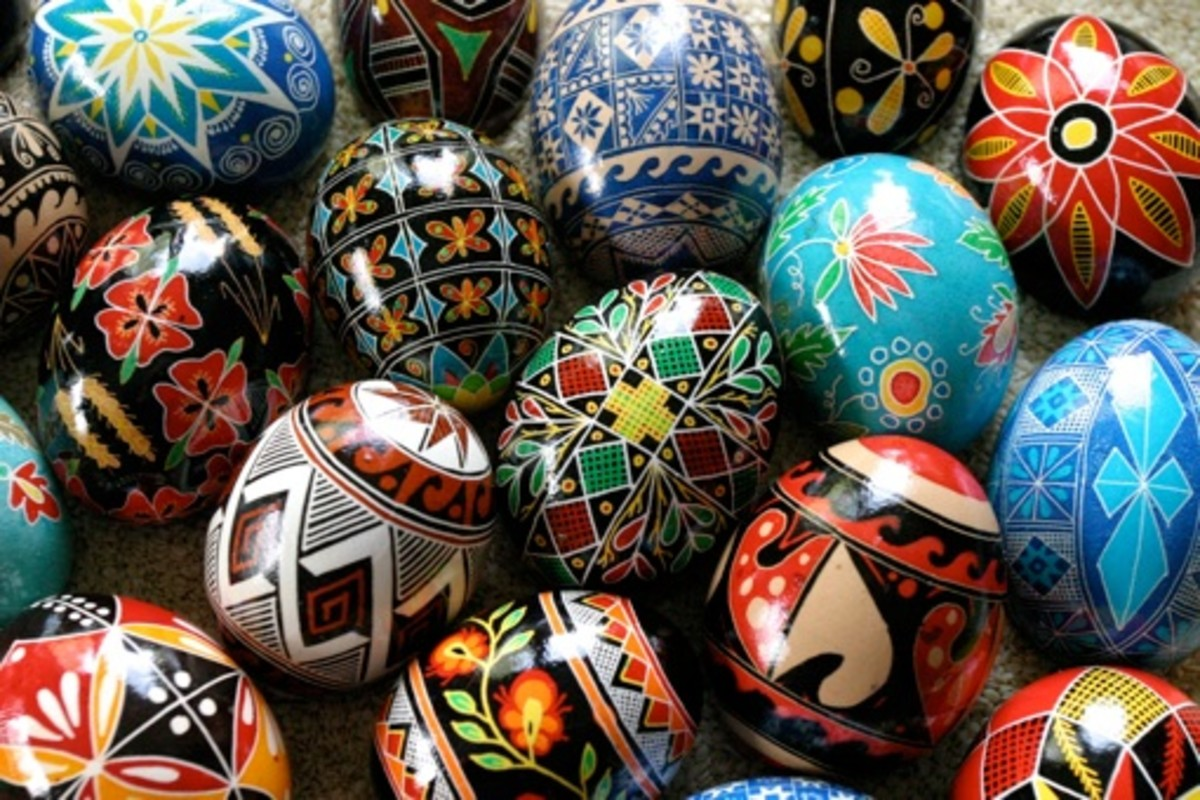 Decorated eggs. Photo by Permission of Luba Petrusha