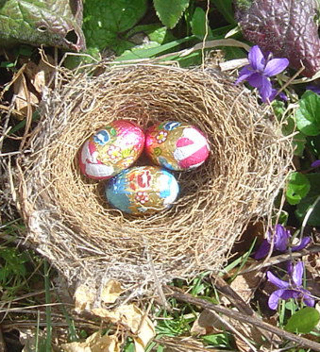 Easter Eggs in a bird's nest - you can buy this image on my Easter Cards