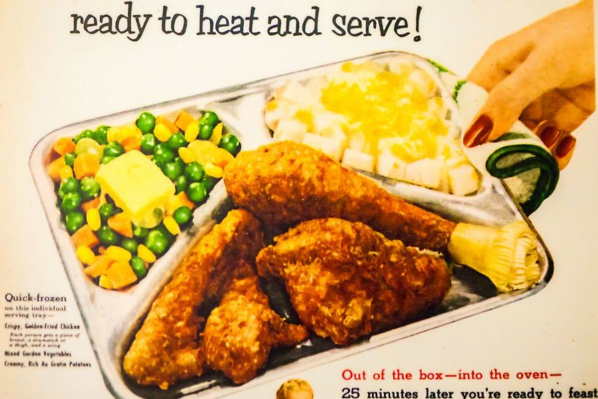 In 1954, Swanson TV dinners were a popular food trend.