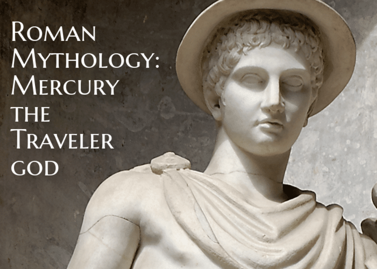 Mercury is one of the most important gods in Roman mythology. He had a long list of jobs from communicating messages from gods to mortals, and guiding souls to the underworld. He was considered the god of commerce, travel, messages, speed, and more.