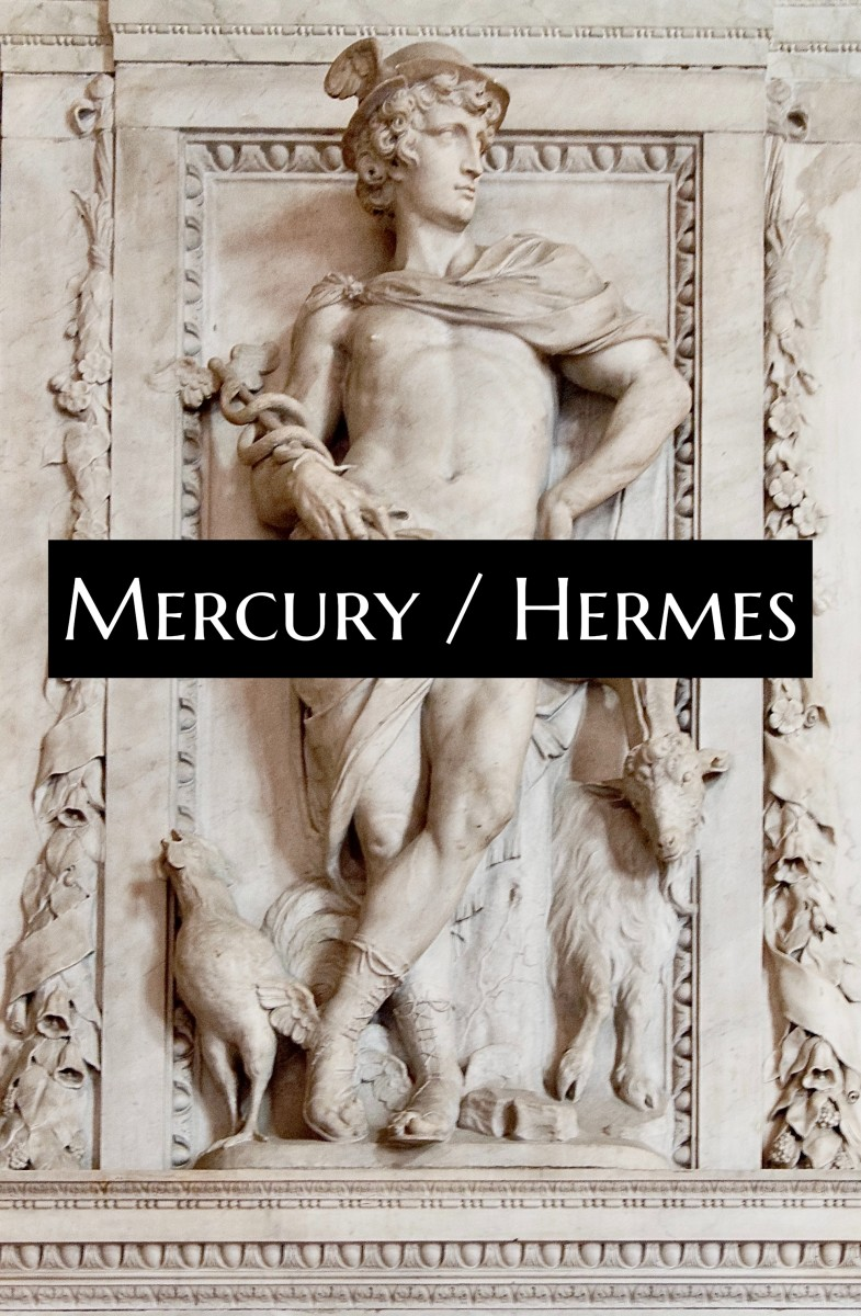 Mercury was borrowed from the Greek Hermes. The archetype itself is hard to trace back. It may be as old as some myths in Mesopotamia.