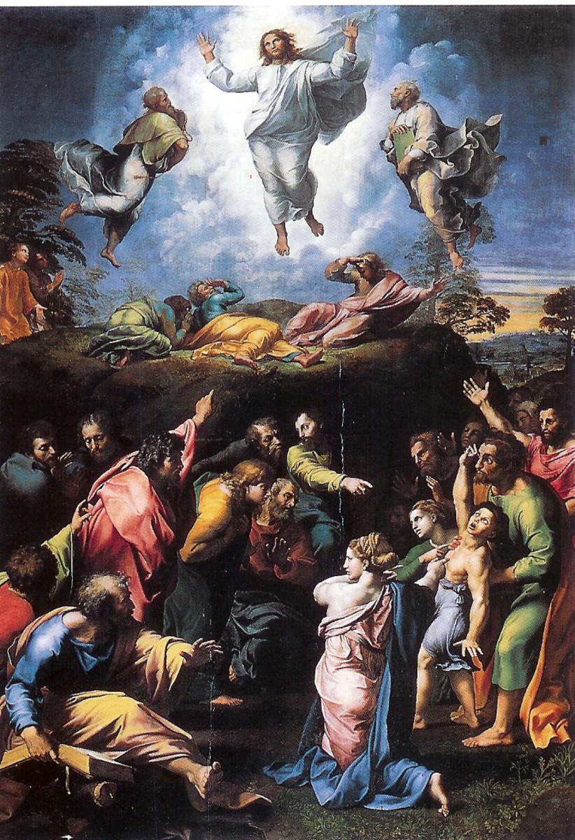 """TRANSFIGURATION"" BY RAPHAEL 1517"
