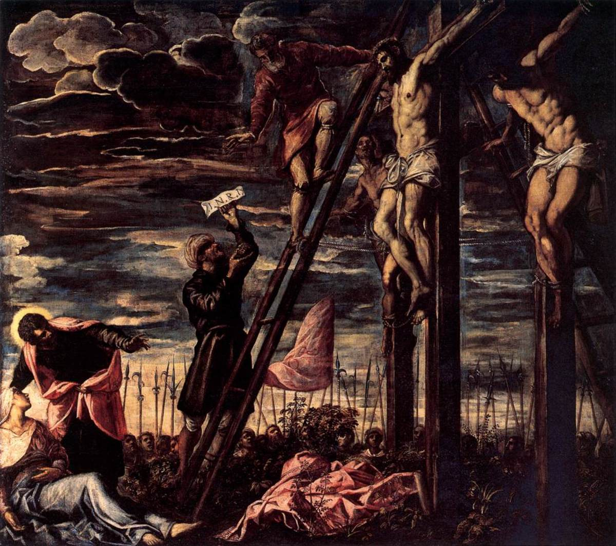 """CRUCIFIXION OF CHRIST"" BY TINTORETTO 1568"