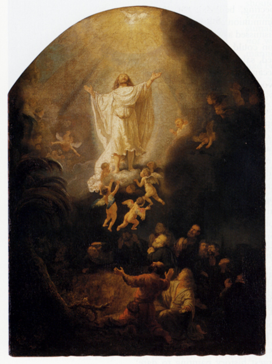 """ASCENSION OF CHRIST"" BY REMBRANDT 1636"