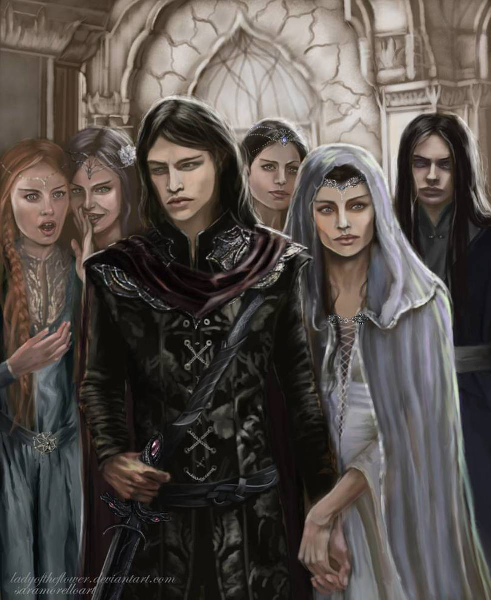 Half Noldor Aredhel and Maeglin return by Samo-Art