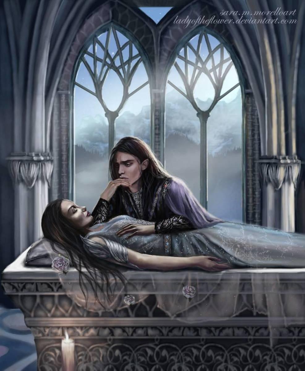 Aredhel-felt-into-the-darkness by SaMo-art