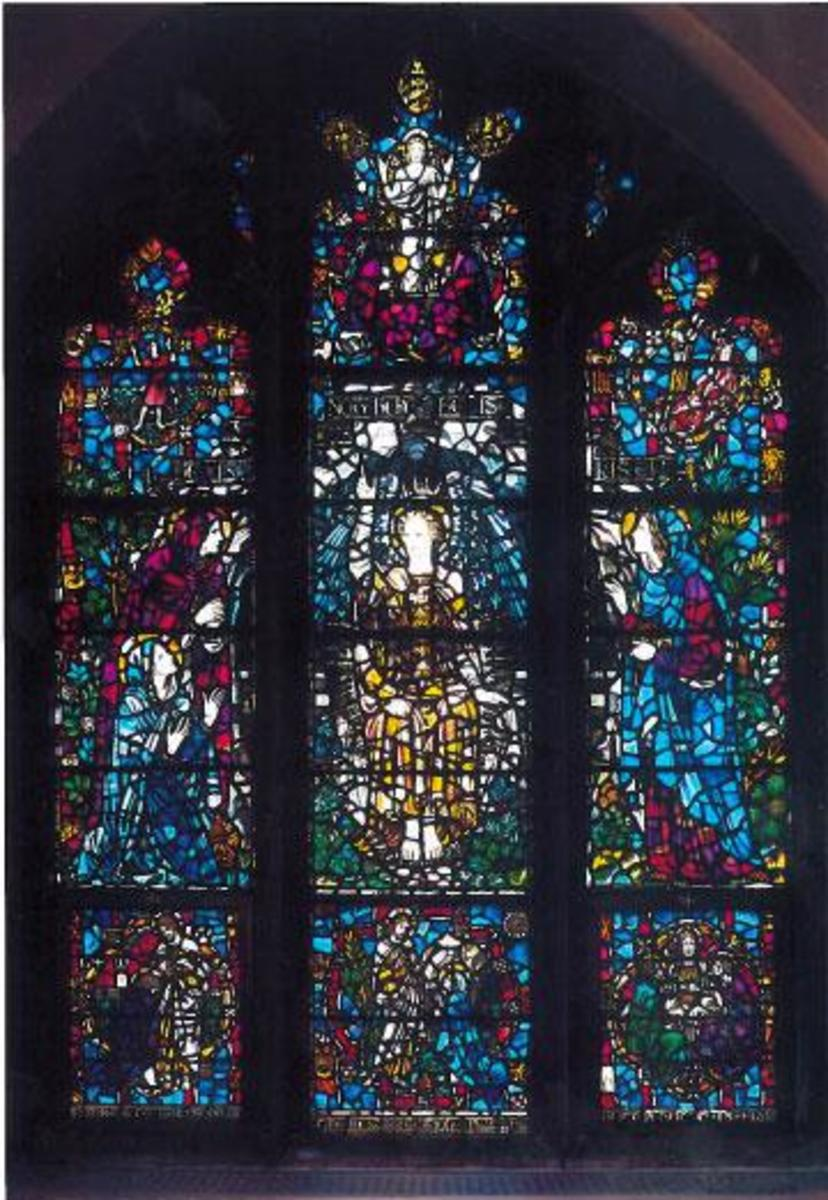 There is nothing like the beauty of a stained glass window.  It is a common symbol of the Christian Church.