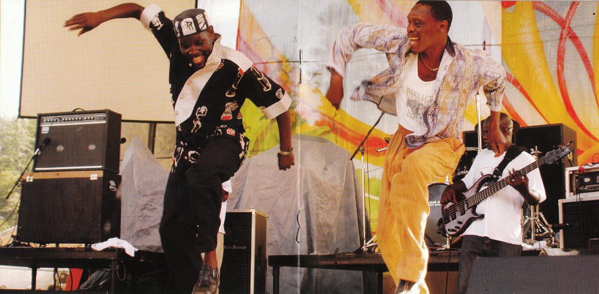 Oliver Mtukudzi from Zimbabwe and his co-singer
