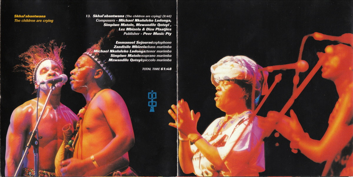 Amampondo Male and Female singers in Live concert performance and wearing their traditional Xhosa garb