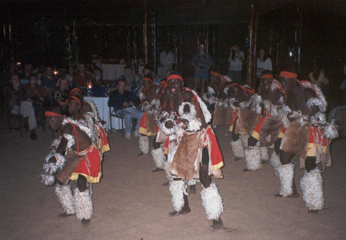 Shangaan Dancers performing and clad in their Traditional attire