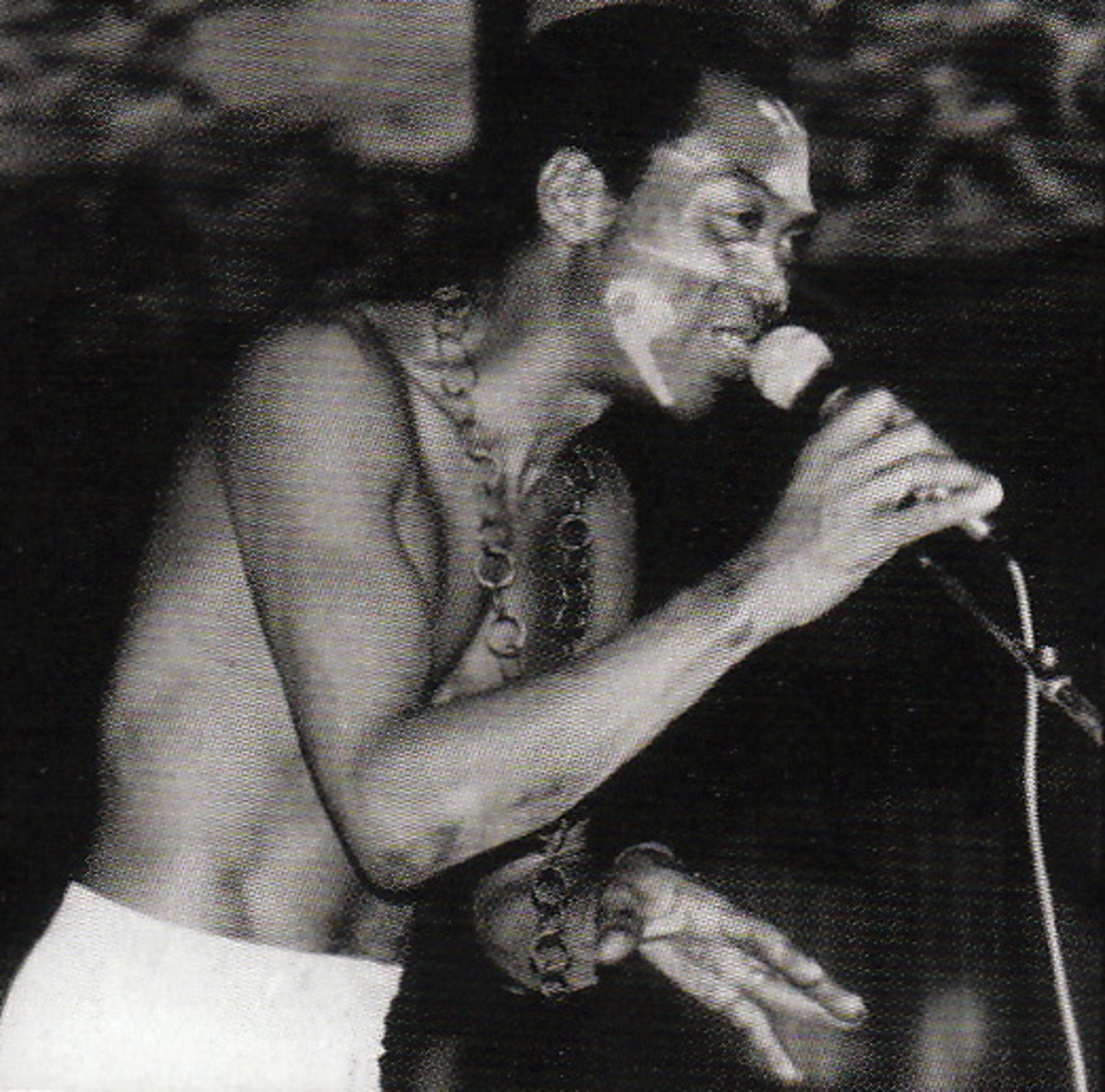 Fela in full swing and jam mode in one of his many live concerts