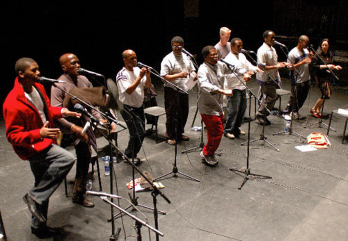 Ladysmith Black Mambazo a Zulu a Capella group from South Africa performing at Carnegie Hall