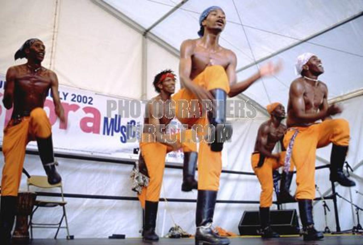 Gumboot Dancers from South Africa