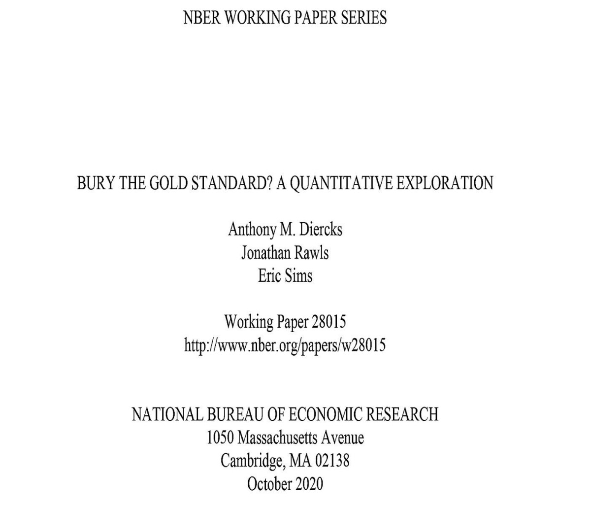 Excerpt from study by Anthony M, Diercks, Jonathan Rawls and Eric Sims, three economists on the Gold Standard.