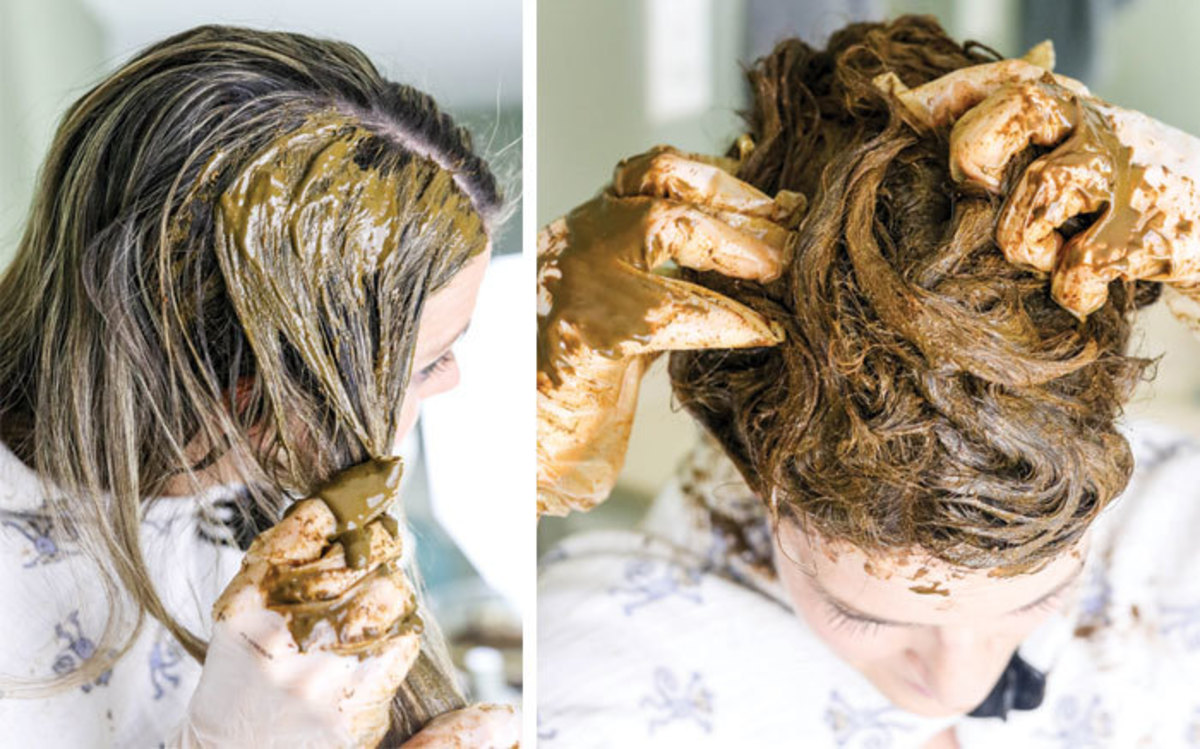 This is what the dye should look like during the application process.