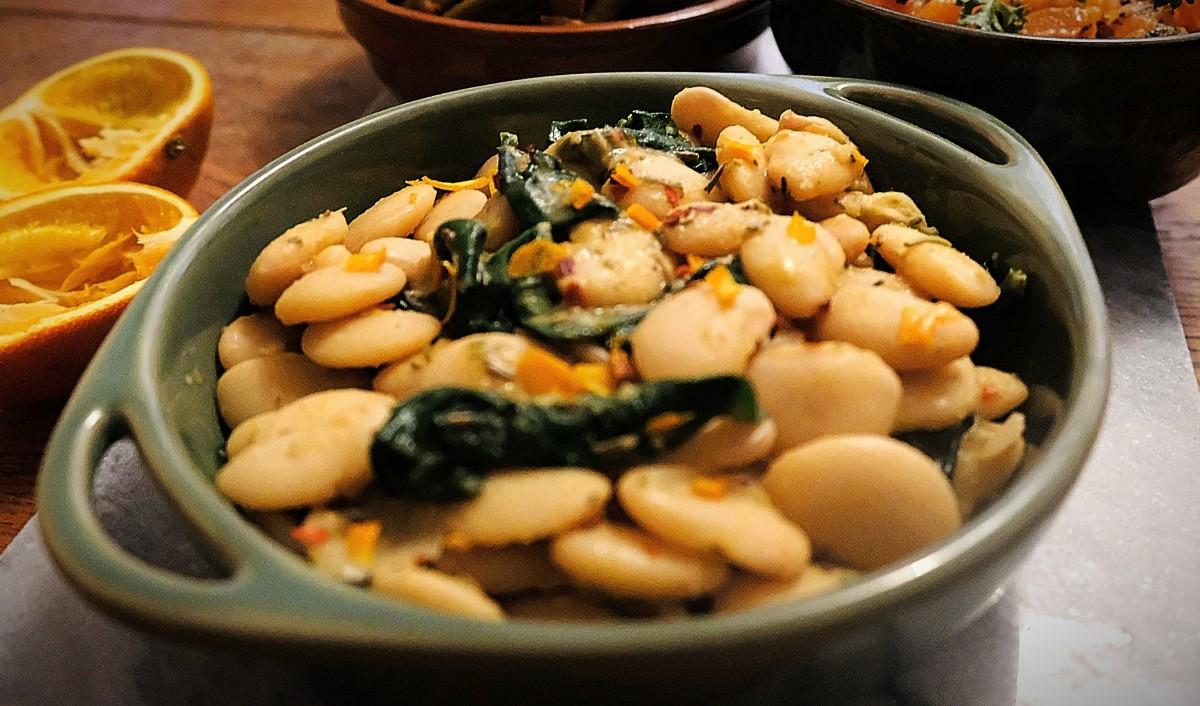 Spanish-style lima beans with orange
