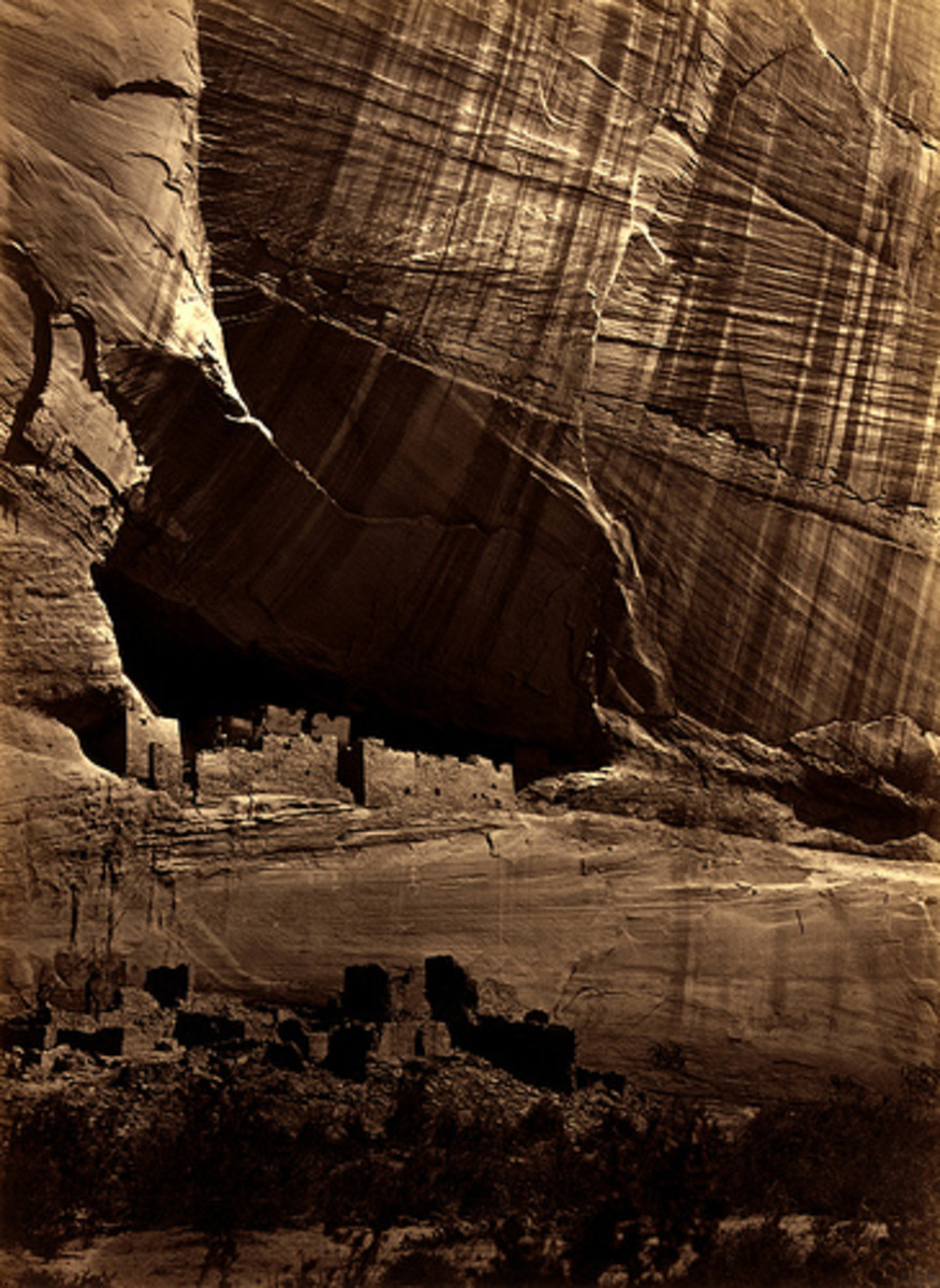 """ANASAZI RUINS"" BY TIMOTHY O'SULLIVAN IN 1873"