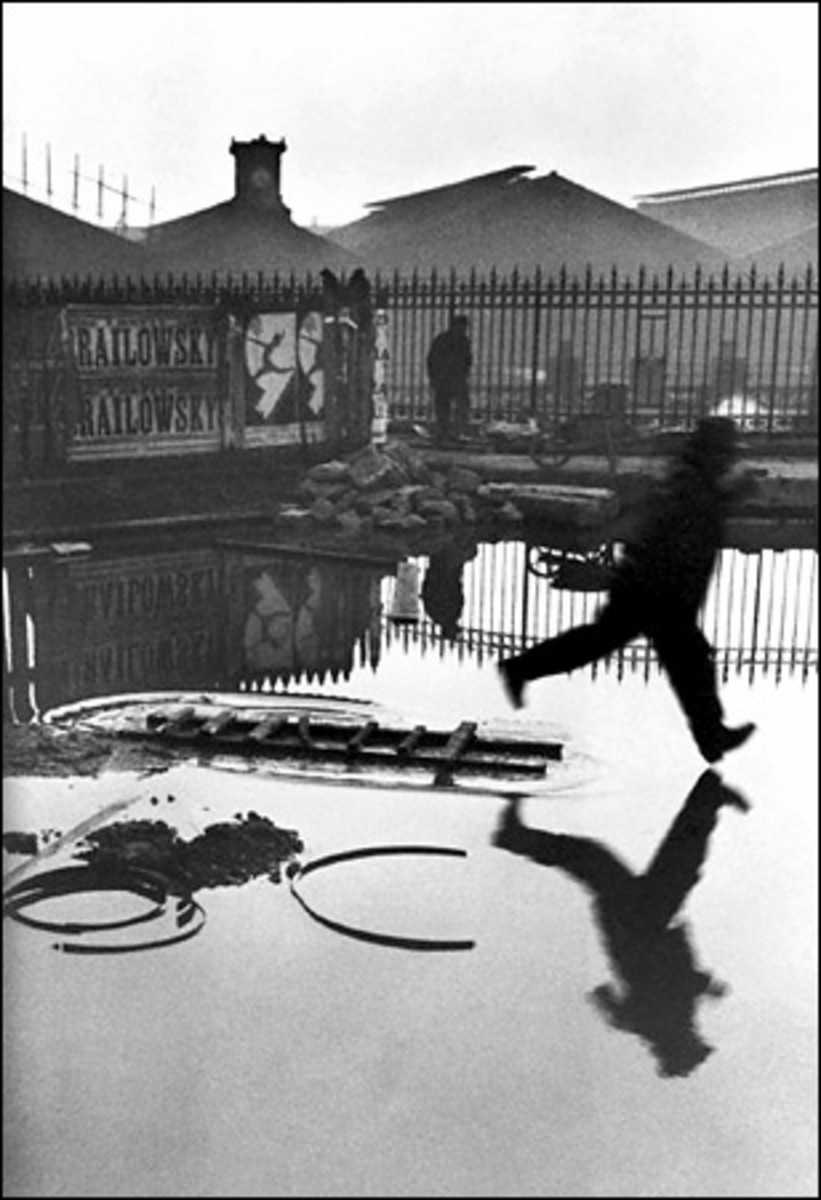 """BEHIND THE GARE ST LAZARE"" BY CARTIER-BRESSON IN 1932"