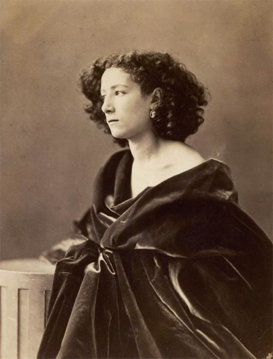 """SARAH BERNHARDT"" BY NADAR IN 1859"