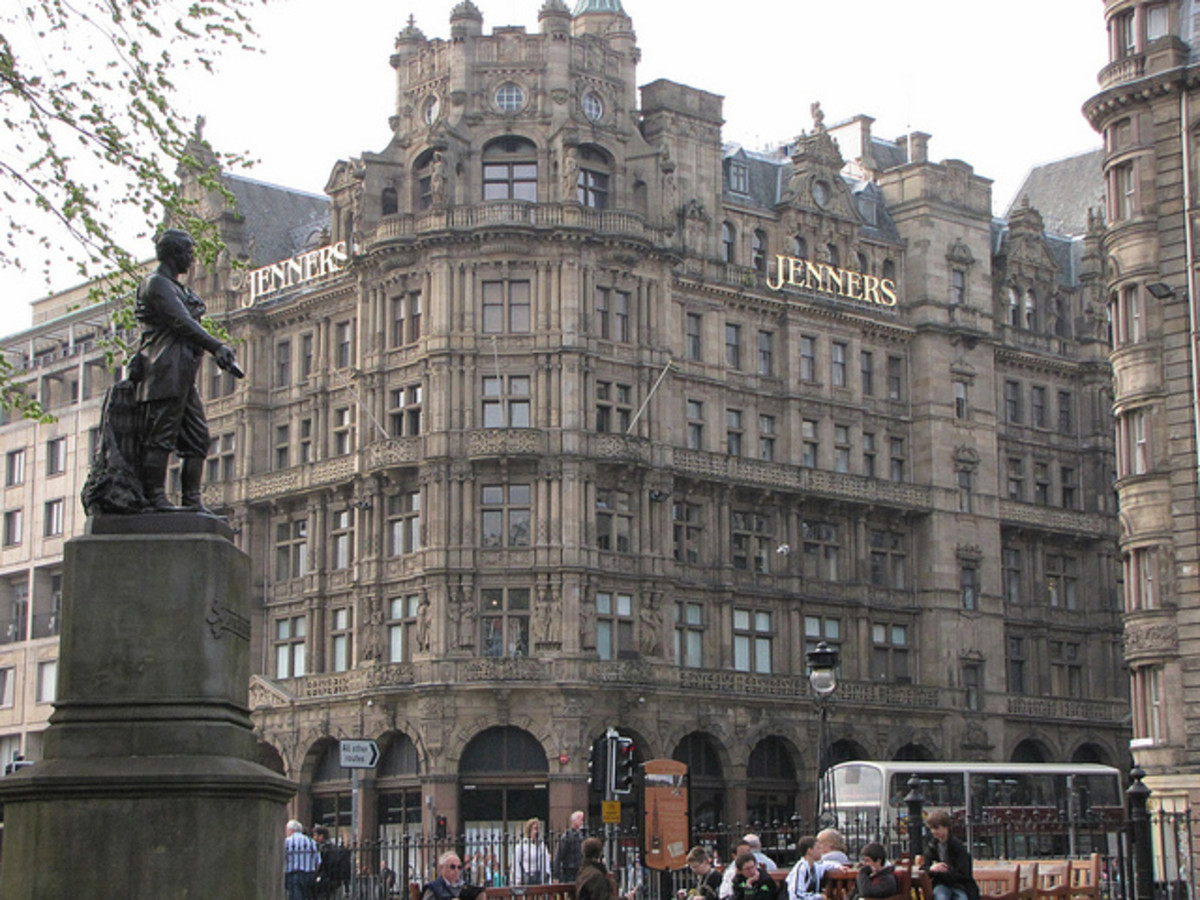 Famous Department Stores : Jenners of Edinburgh in Scotland.