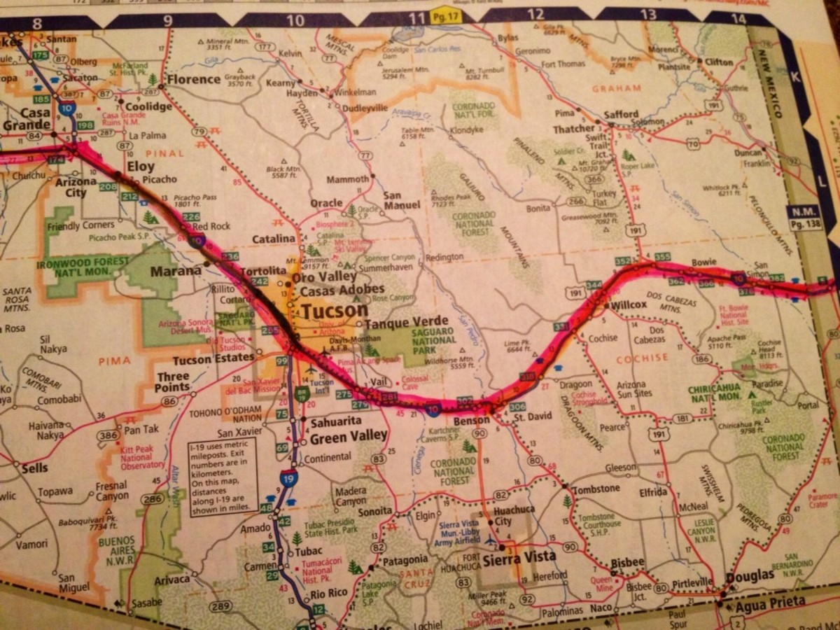 Atlas we took on the trip.  The kids had fun highlighting the route as we drove.