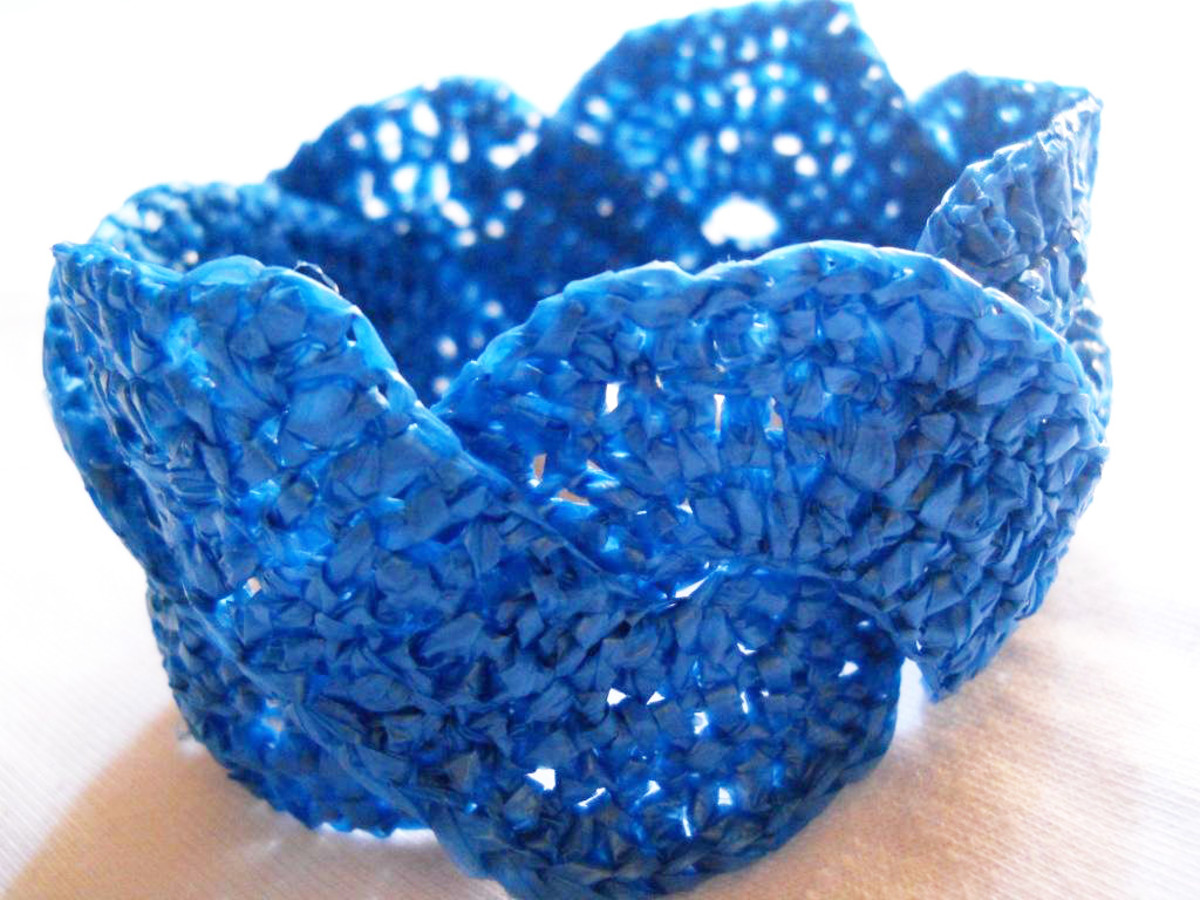 Blue WEAVED WAVE Bracelet - This is the guinea pig. I wish I thought earlier to use two colors. But this is still great, reminds me so much of the beach. Maybe I should wear this to the beach. I will rock the beach with this bracelet in my wrist!
