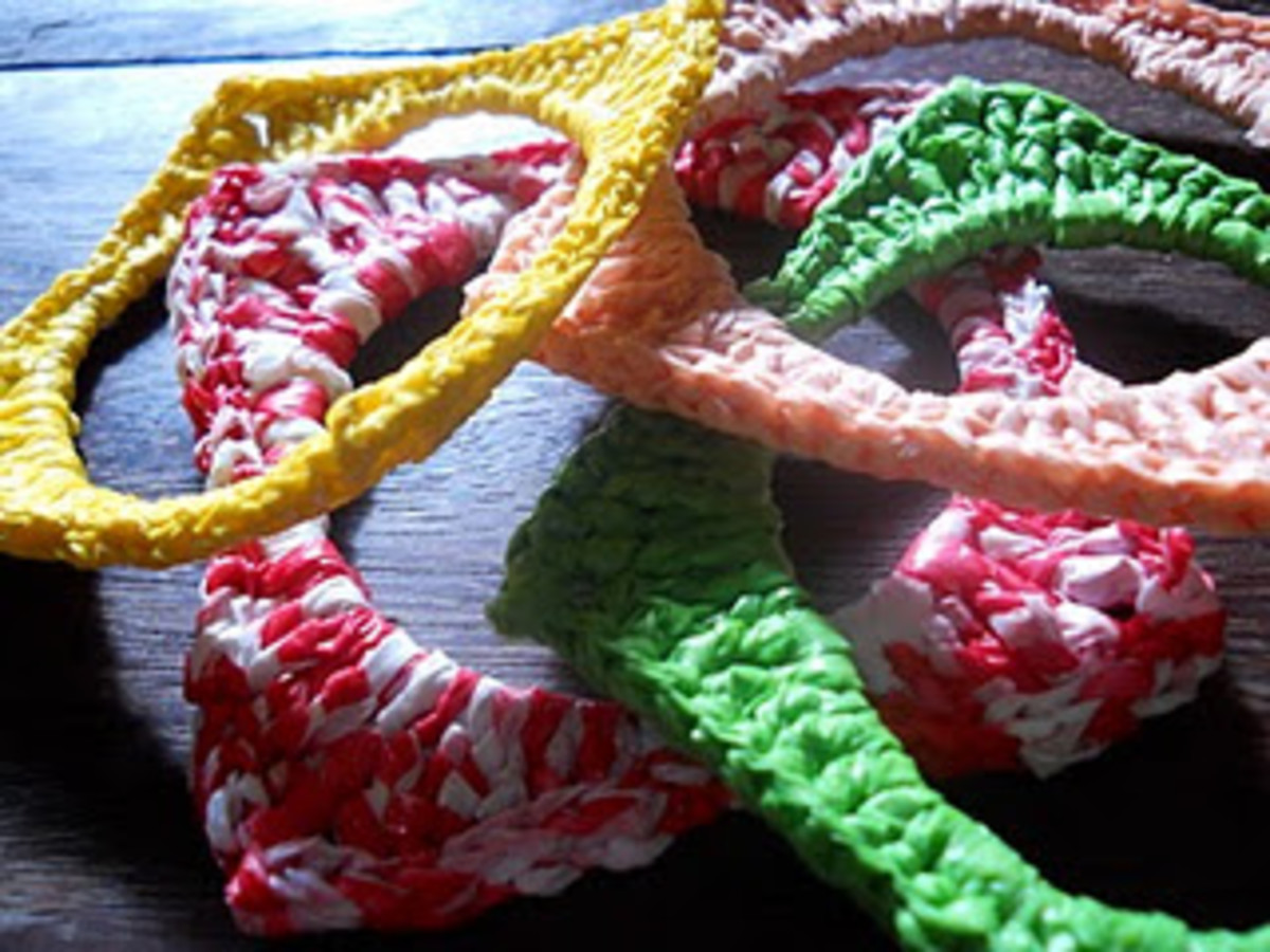 Crocheted Square Bangles
