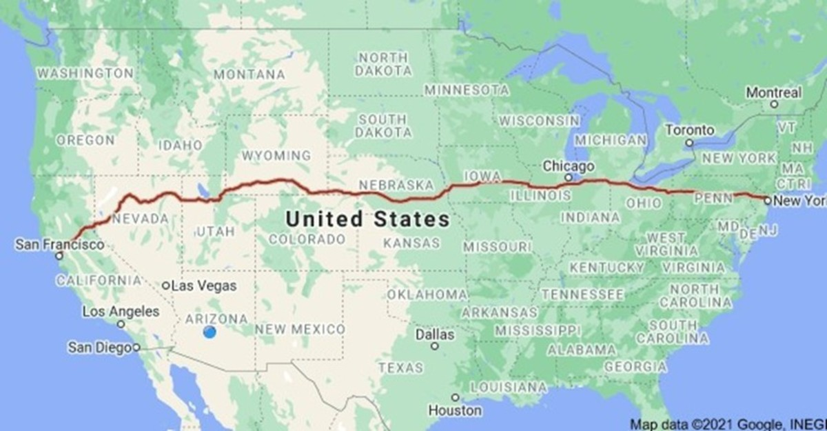 I-80 runs east to west throughout the United States and one of the busiest trucking freeways in the country. Photo courtesy of Google Maps.