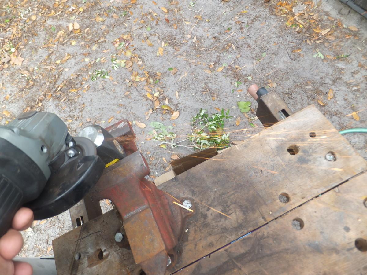 Removing Texturing to Dress Blacksmithing Hammer