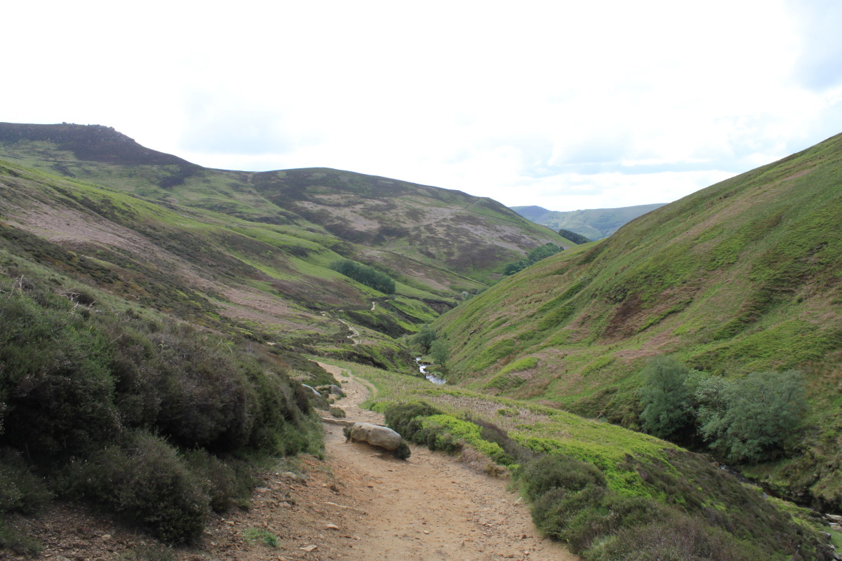 Looking back down the valley towards Edale having already gained plenty of height.