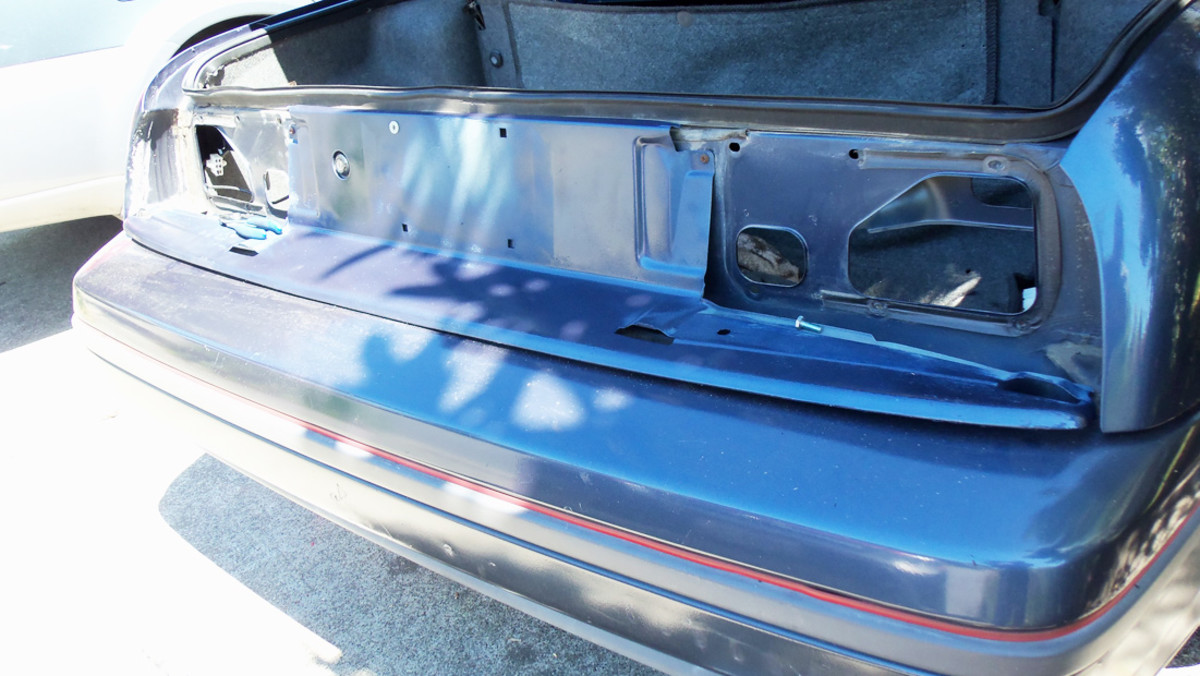 The valance without the tailights installed.