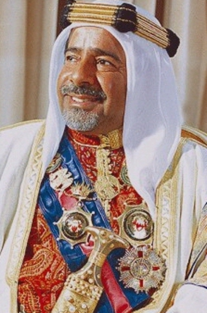 His Royal Highness Shaikh Isa bin Salman al-Khalifa - Amir of the State of Bahrain (June 3, 1933 – March 6, 1999)