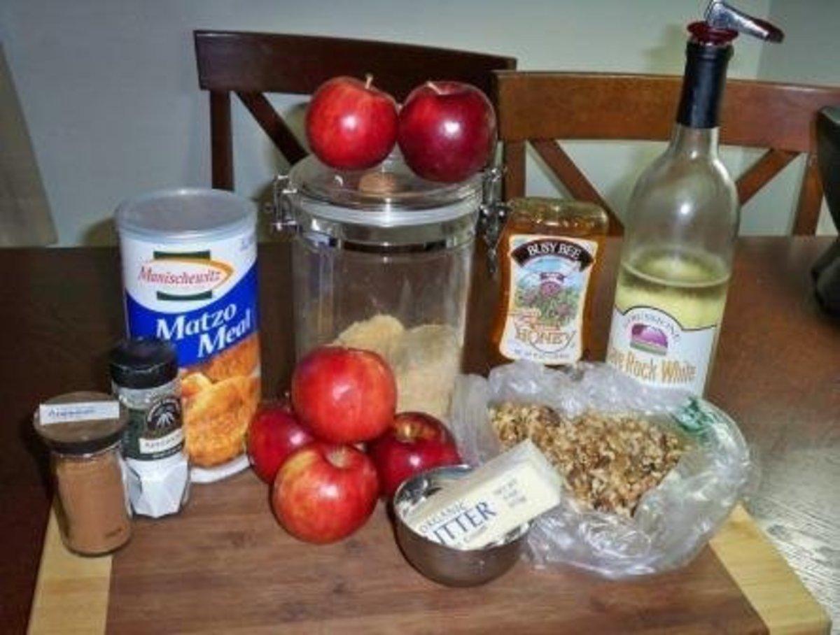 Charoset (Haroset) Pie Ingredients