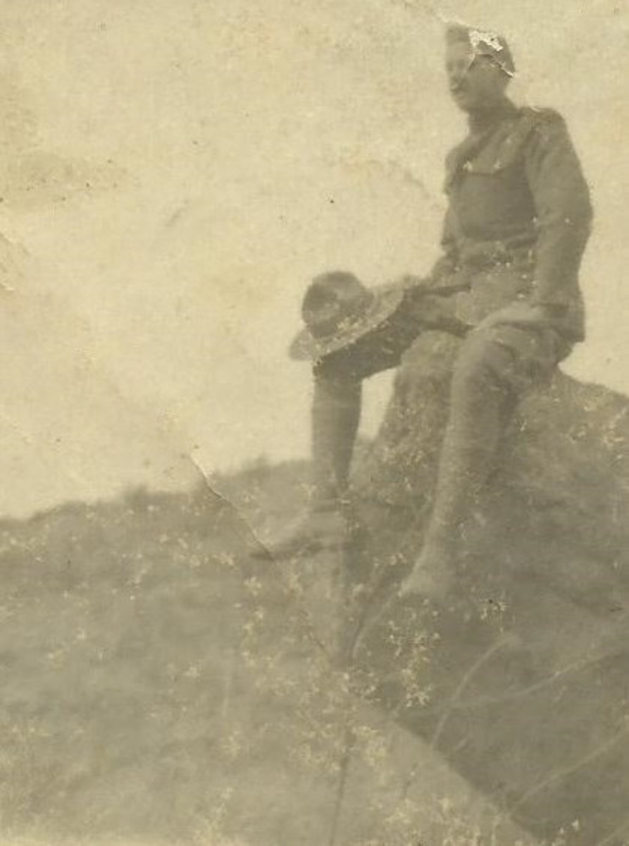 Private Clarence McGhee in France.