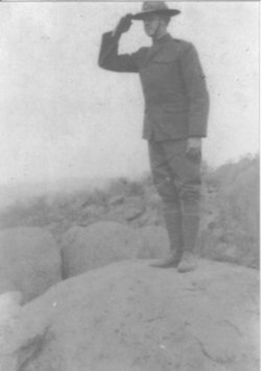 Clarence McGhee in France during WWI.