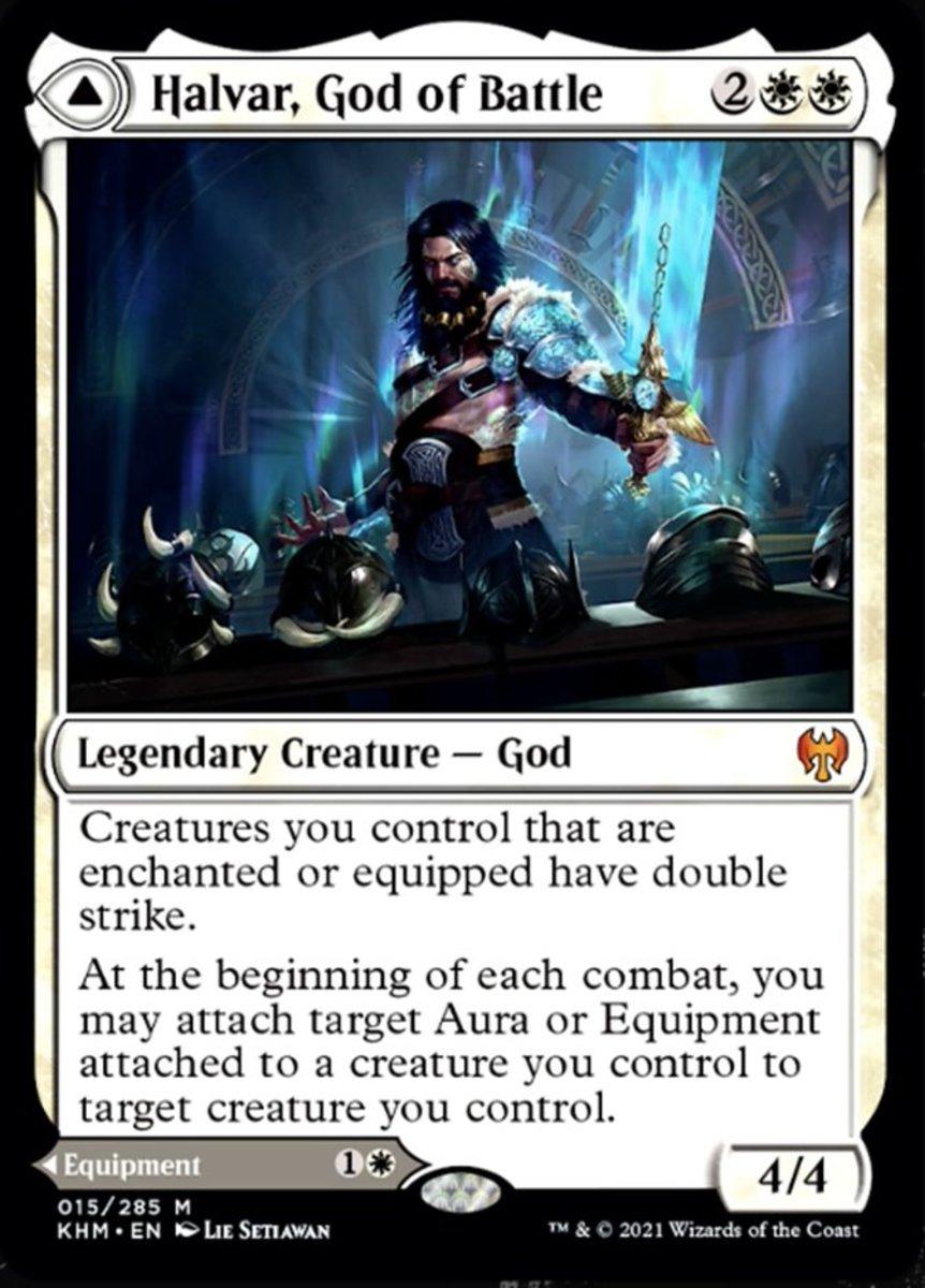 Halvar, God of Battle mtg