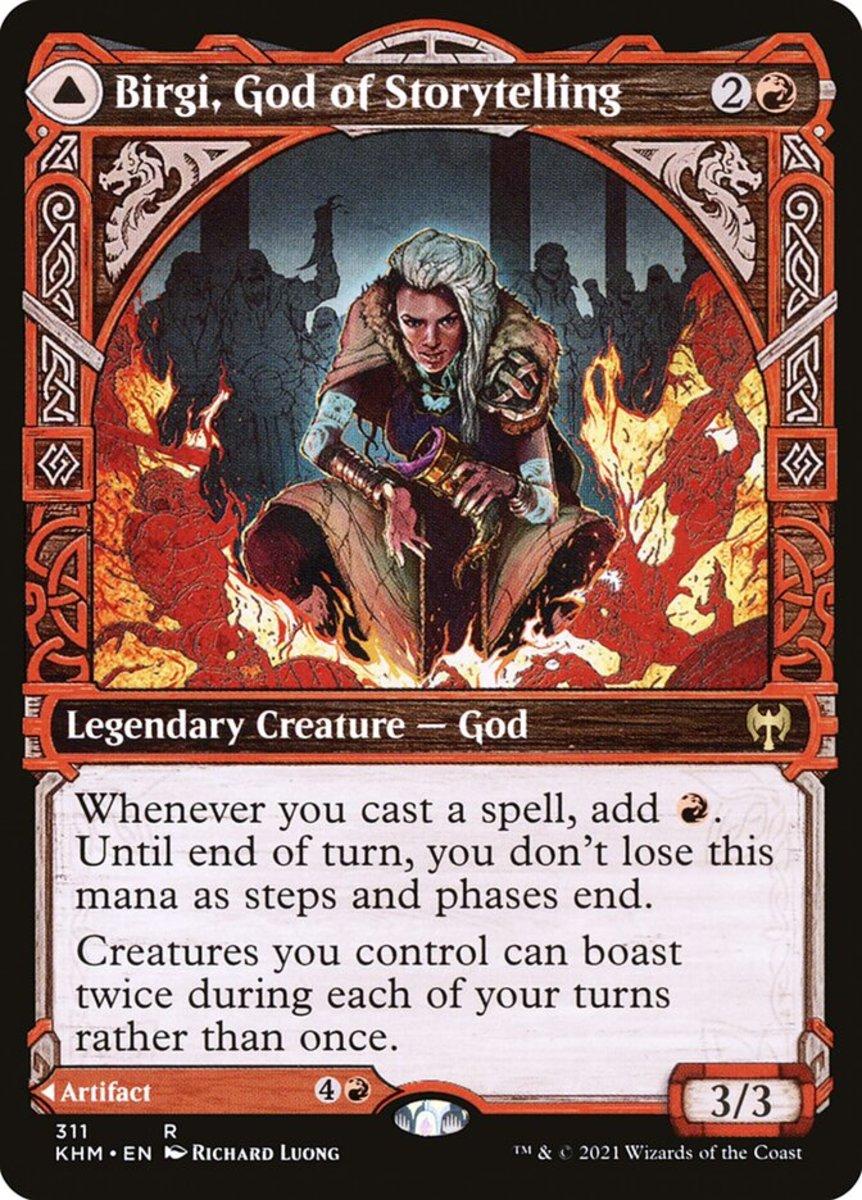Birgi, God of Storytelling mtg