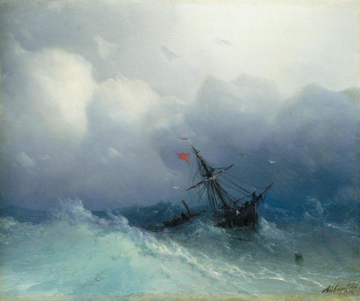 Shipwreck on Stormy Seas, 1886