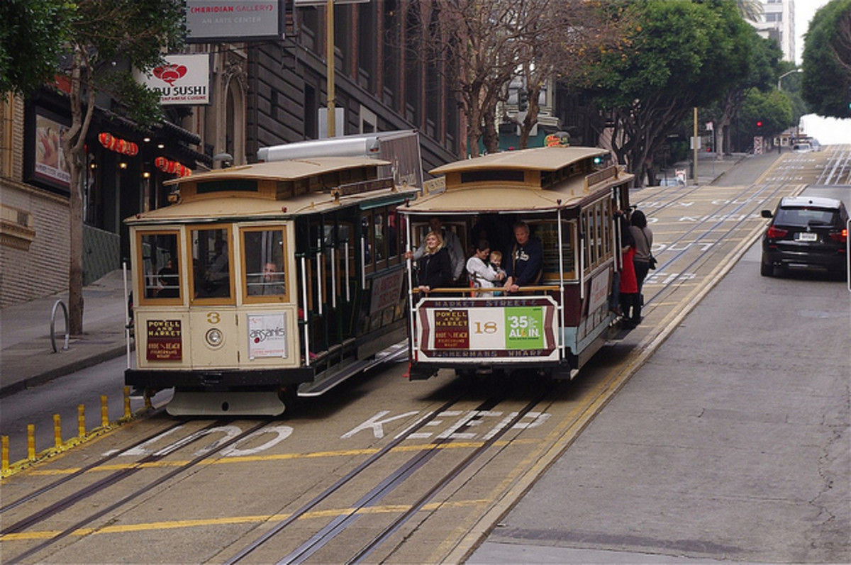 San Francisco's famed cable cars are the easiest way to navigate the downtown hills. This is the California Street Line