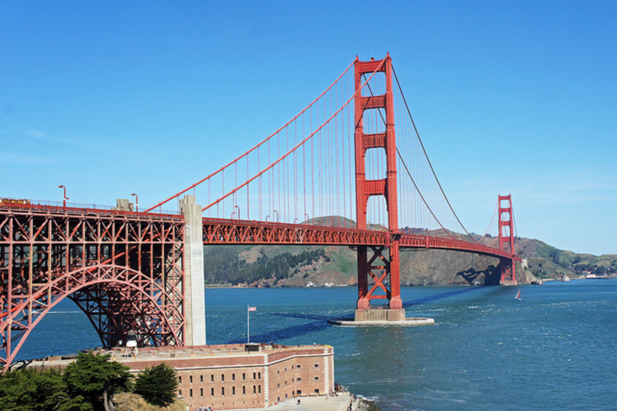 Golden Gate Bridge from just above Fort Point