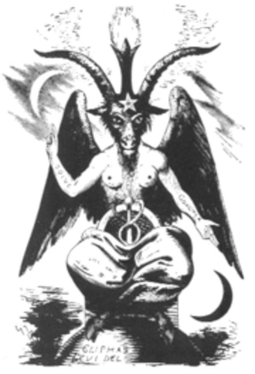 19th century picture of the Baphomet